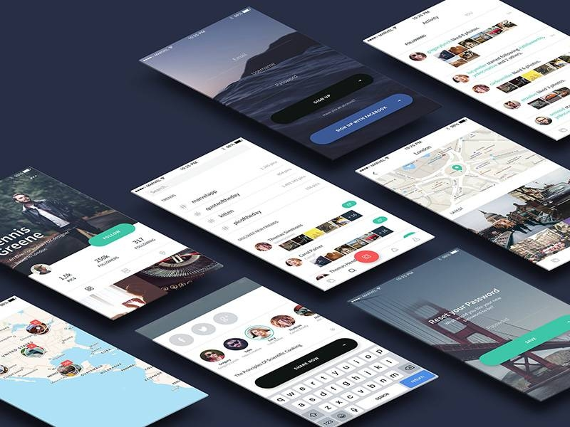 Snap – A free mobile UI Kit for Sketch