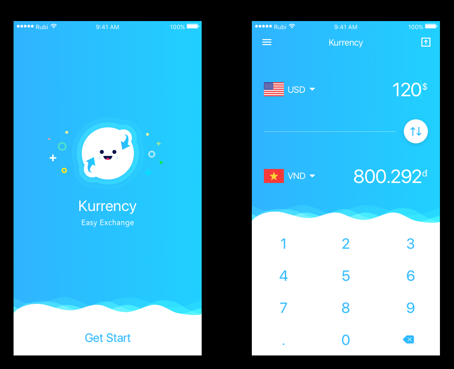 Currency Exchange Concept App Sketch素材下载