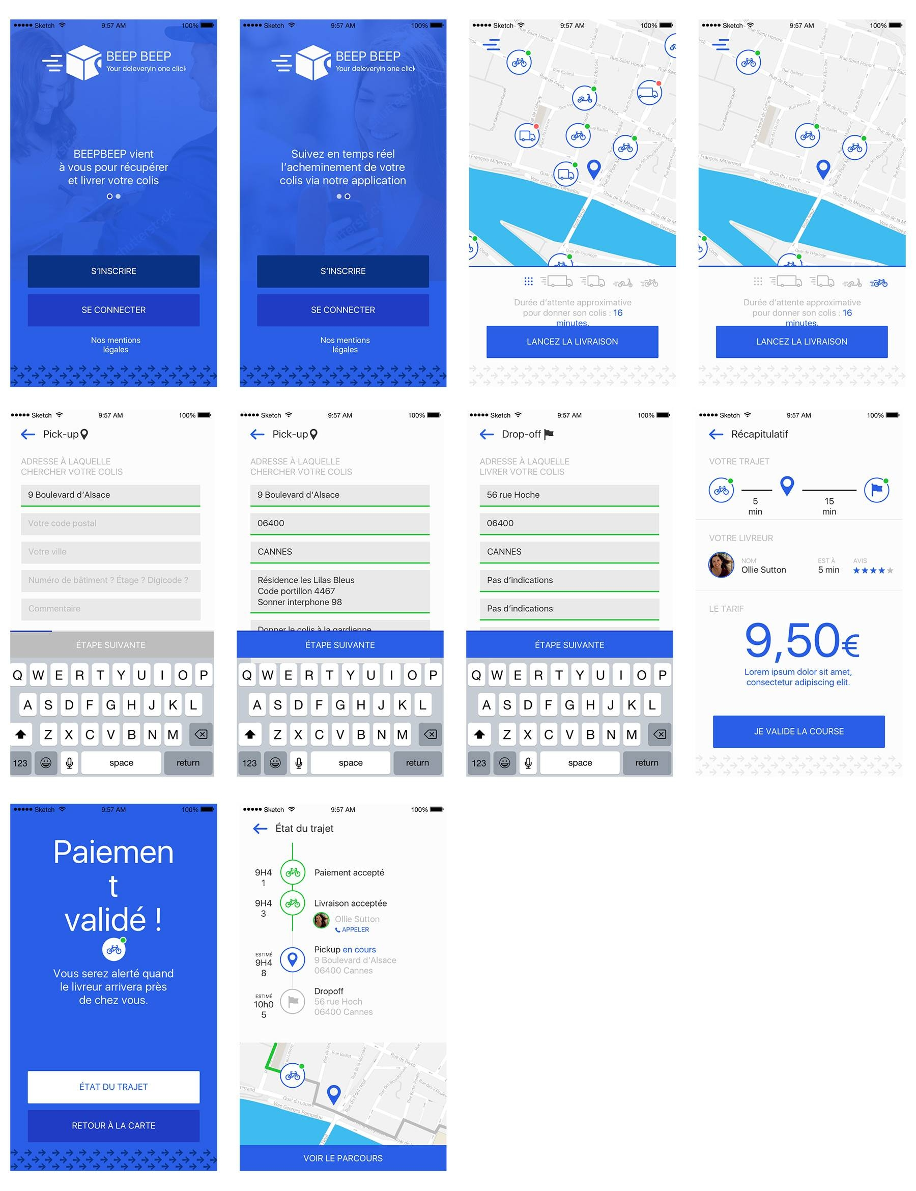 BeepBeep – Packages Delivery App Sketch素材下载
